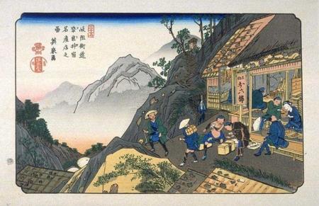 奈良井宿の絵