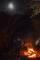 焚火とお月様