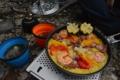 パエリアとオクラのスープ