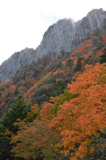 北壁の紅葉