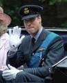 2010年6月12日、空軍将校姿のウィリアム