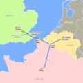 ユーロスター 路線図