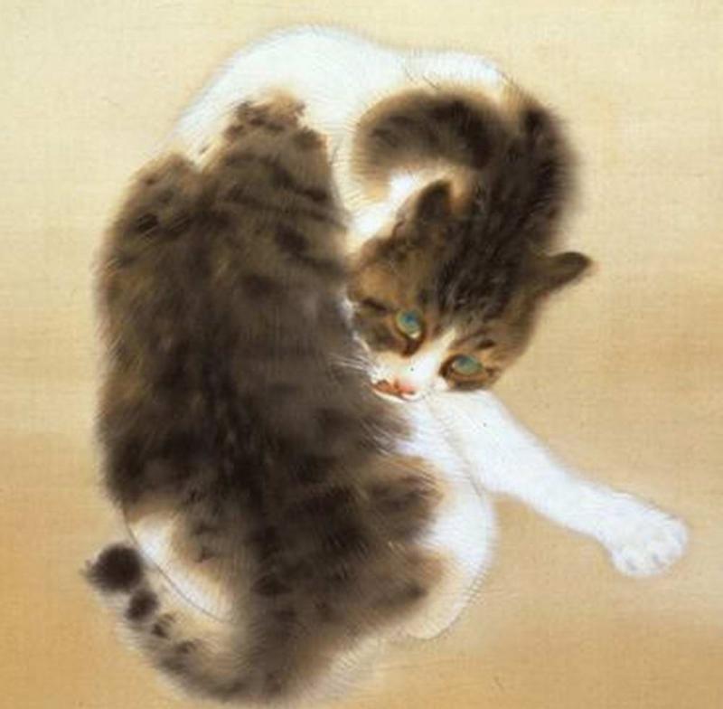 「竹内栖鳳 班猫」の画像検索結果