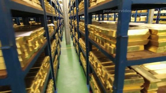 これが金保管庫の内部