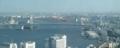 222レインボーブリッジと東京湾を眼下に