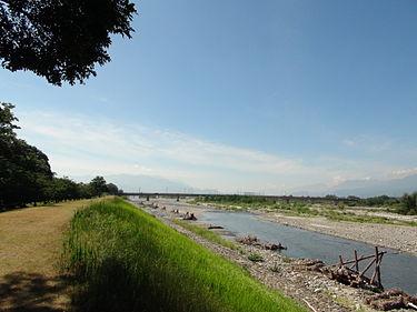 信玄堤(2012年8月撮影)