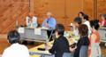 放射線教育などについて意見を交わす参加者