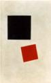 マレーヴィチ「赤と黒の正方形
