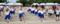 伸び伸びと体を動かす大熊町の子どもたち