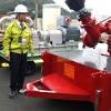 新規制基準に沿って整備された放水砲