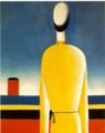 マレーヴィチ「複雑な予感(黄色のルパシカを着た半身像)