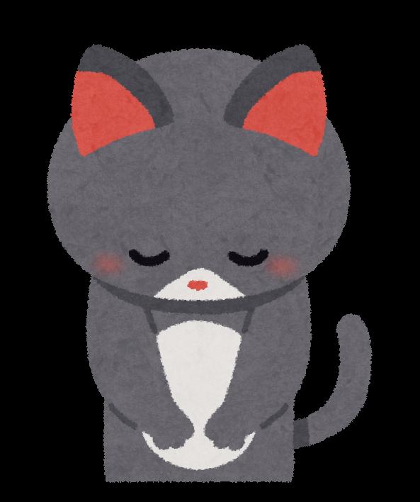 あいさつをする猫のイラスト