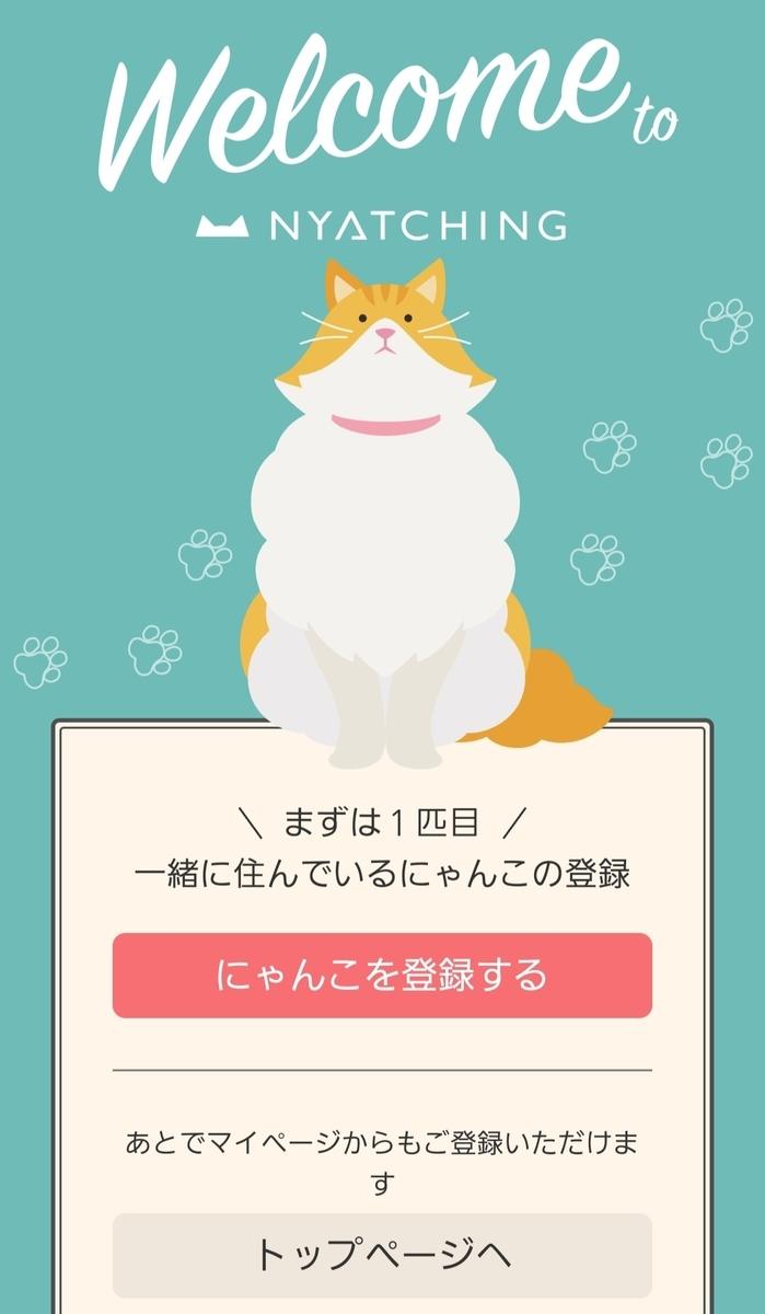 猫を登録の画面