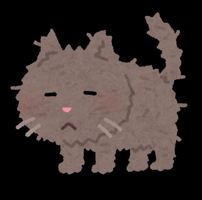 汚れた猫のイラスト