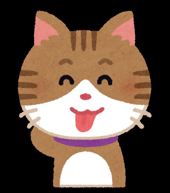 ベロを出している猫のイラスト