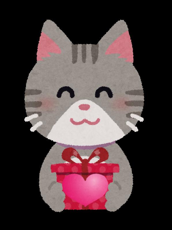 心を伝えようとする猫のイラスト