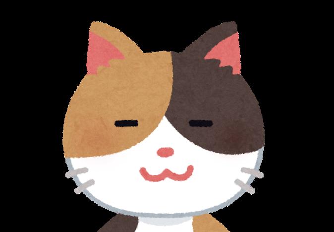 猫の顔のアップのイラスト