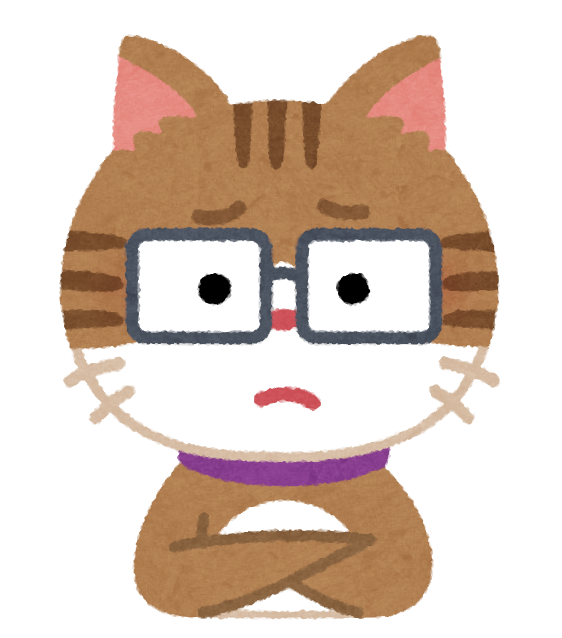 目が悪い猫のイラスト