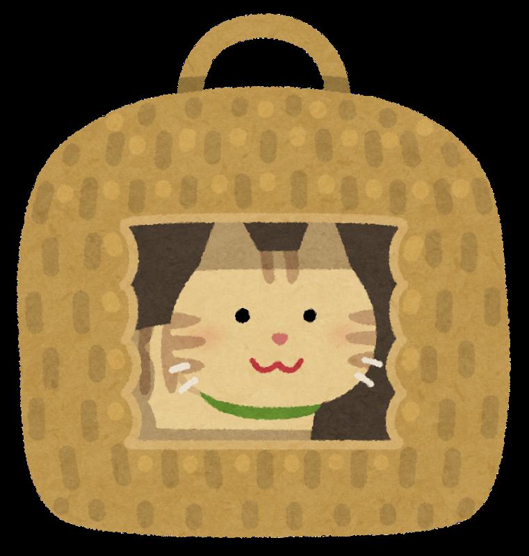 猫ちぐらのイラスト