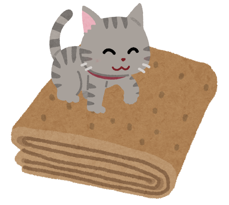 ふみふみをする猫のイラスト