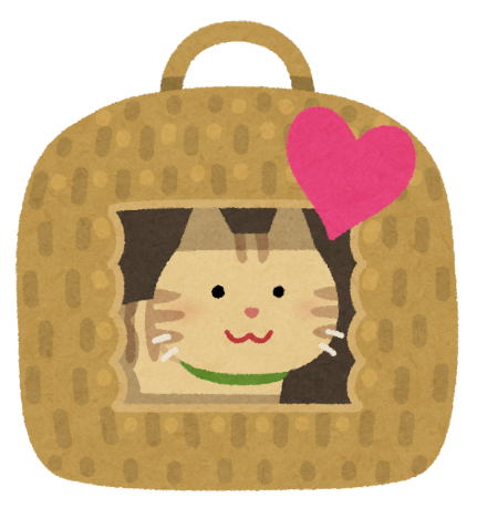 安心している猫のイラスト
