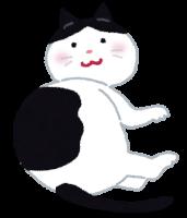 ふくよかな猫のイラスト