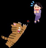 猫とゴキブリのイラスト