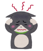 ストレスを感じている猫のイラスト