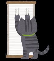 爪とぎをしている猫のイラスト