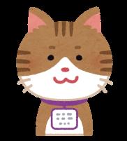 迷子札をつけた猫のイラスト