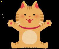 座る子猫のイラスト