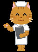 猫の看護師さんのイラスト