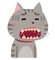 歯が汚い猫のイラスト