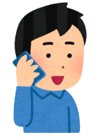 電話をする人のイラスト