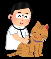 獣医さんと猫のイラスト