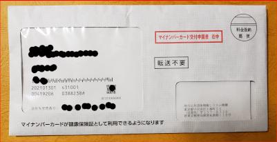 個人番号カード交付申請書の写真2