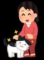 すりすりしている猫のイラスト