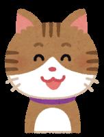 笑顔の猫のイラスト