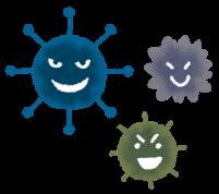 カビ菌のイラスト