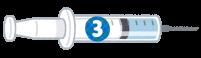 3種混合ワクチンのイラスト