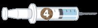 4種混合ワクチンのイラスト