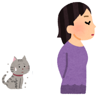 猫を無視しているイラスト