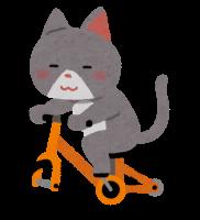 自転車に乗る猫のイラスト