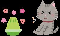 芳香剤をイヤがる猫のイラスト
