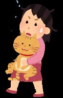 猫を運ぶ人のイラスト