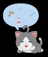 猫のケア用品のイラスト