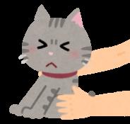 掴まれてイヤがる猫のイラスト