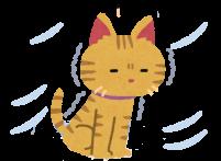 寒そうな猫のイラスト