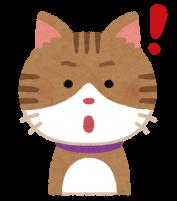 ビックリしている猫のイラスト
