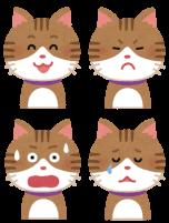 猫のいろんな感情のイラスト